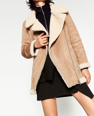 moda zara - chaqueta borrego