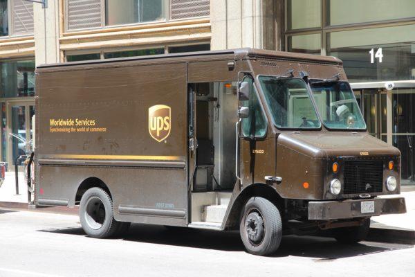 Furgón antiguo UPS