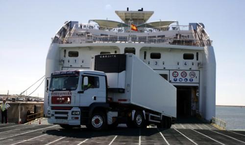 camión en Ferry