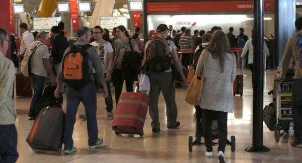 Pasajeros en aeropuertos españoles