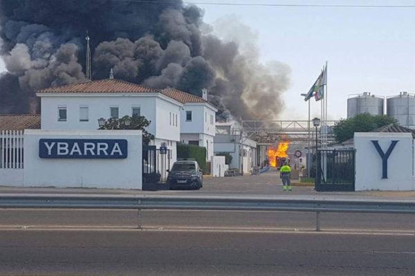 Incendio fábrica Ybarra