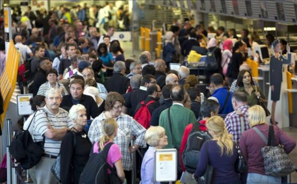 aglomeración aeropuerto