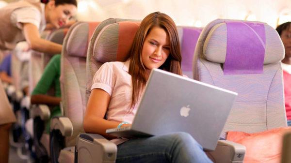 Avión con Internet