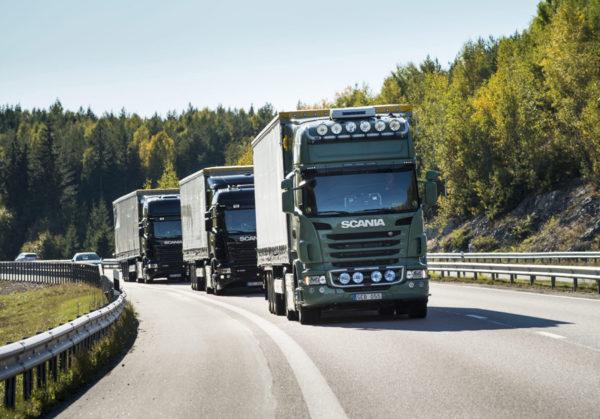 Camión Scania conectado