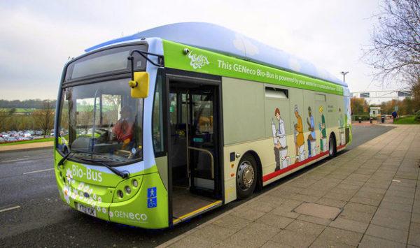 autobús propulsado con Biogás