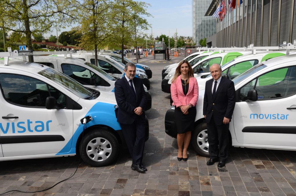 Telefónica flota de vehículos eléctricos