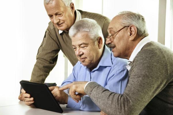 Uso de tablets entre personas mayores