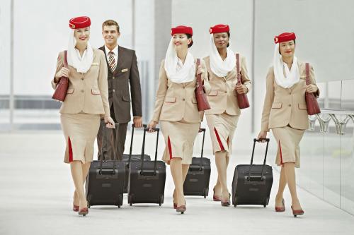 Azafatas de aerolínea Emirates