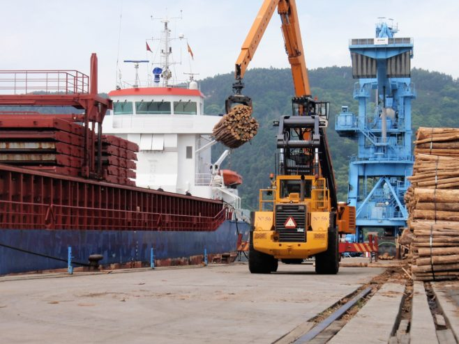 Puerto de Ferrol. Transporte de mercancías