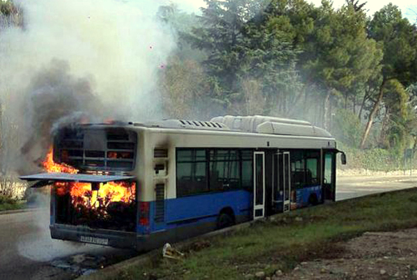 Incendio autobús EMT