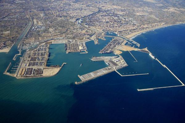 puerto de Valencia vista aérea