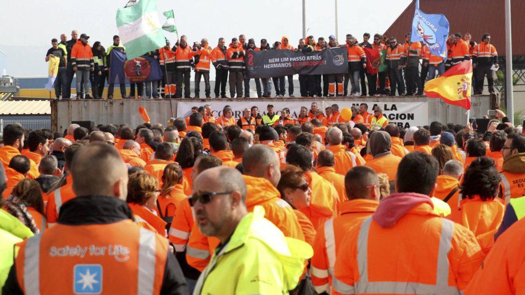 Huelga de estibadores en España