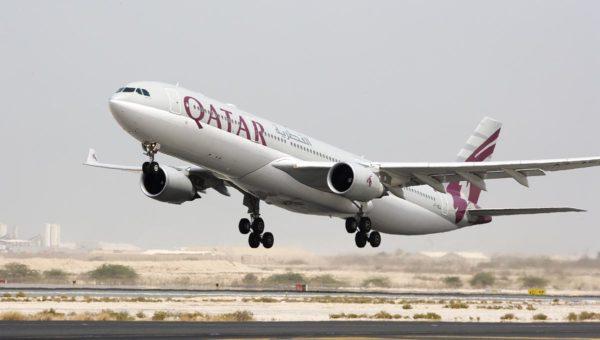 Avión Qatar Airways