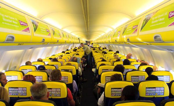 Espacio entre asientos Ryanair