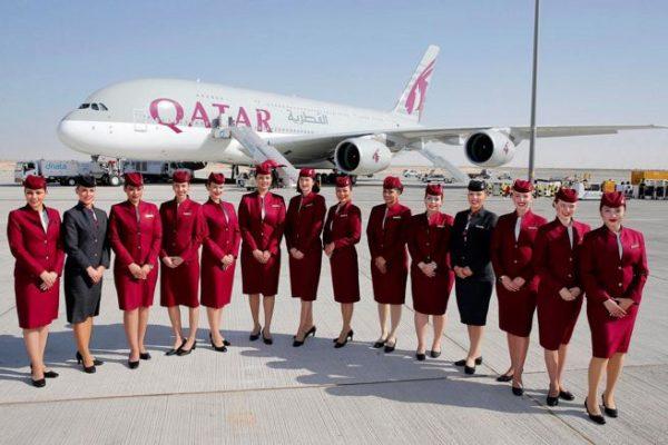 Qatar Airways tripulación