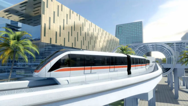 The Driverless BOMBARDIER INNOVIA Monorail 300 system