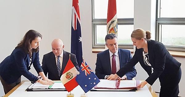 Peru y Australia terminan segunda ronda de negociaciones