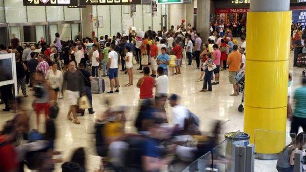 tráfico global de pasajeros