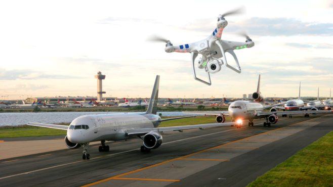 Drones seguridad aeropuertos