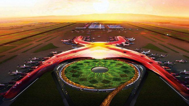 Avanza la construcción del Nuevo Aeropuerto Internacional de México (NAIM)