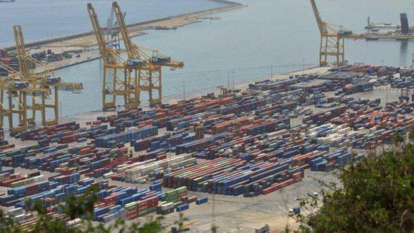 tráfico de mercancías del puerto de Barcelona
