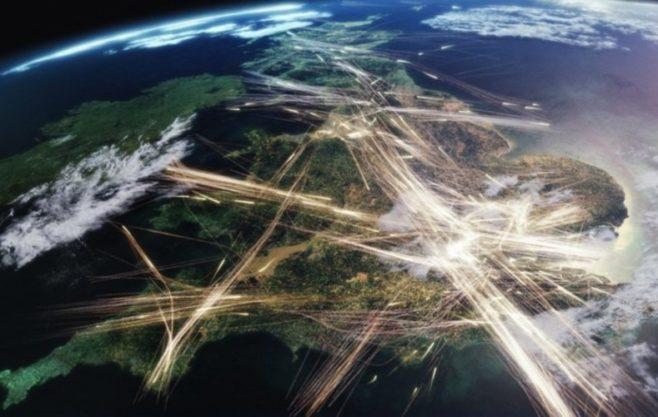 tráfico aéreo de carga mundial
