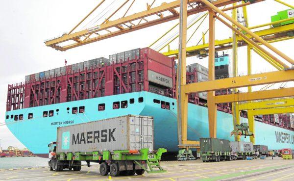tráfico de mercancías del puerto de Valencia
