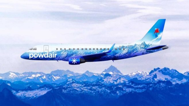 Avión Powdair