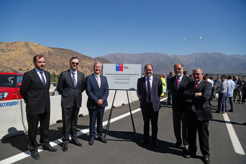 Inauguran las obras de la Ruta 60, unazona de tránsito del comercio terrestre entre Chile con Argentina, Brasil y Uruguay