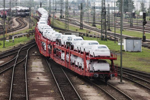 Tren portavehículos Barcelona