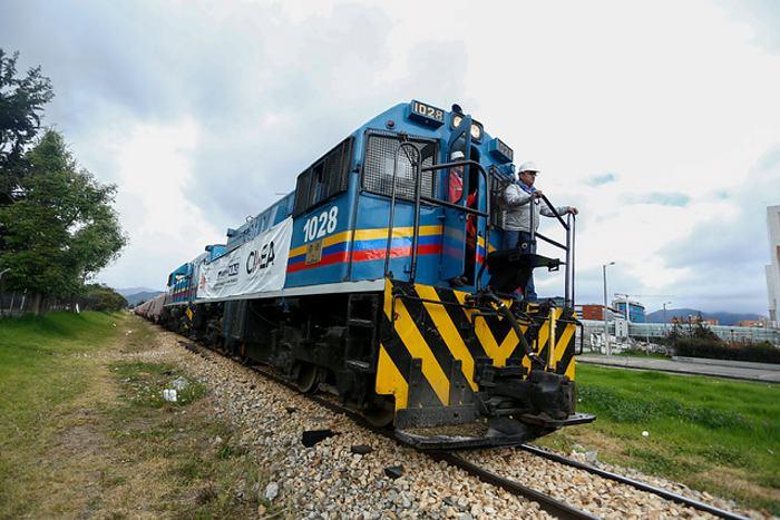 Avanza operación de Tren de transporte de carga que conecta Boyacá con Bogotá en Colombia