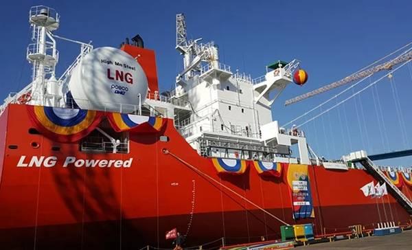Buque Ilshin Logistics con Gas Natural Licuado