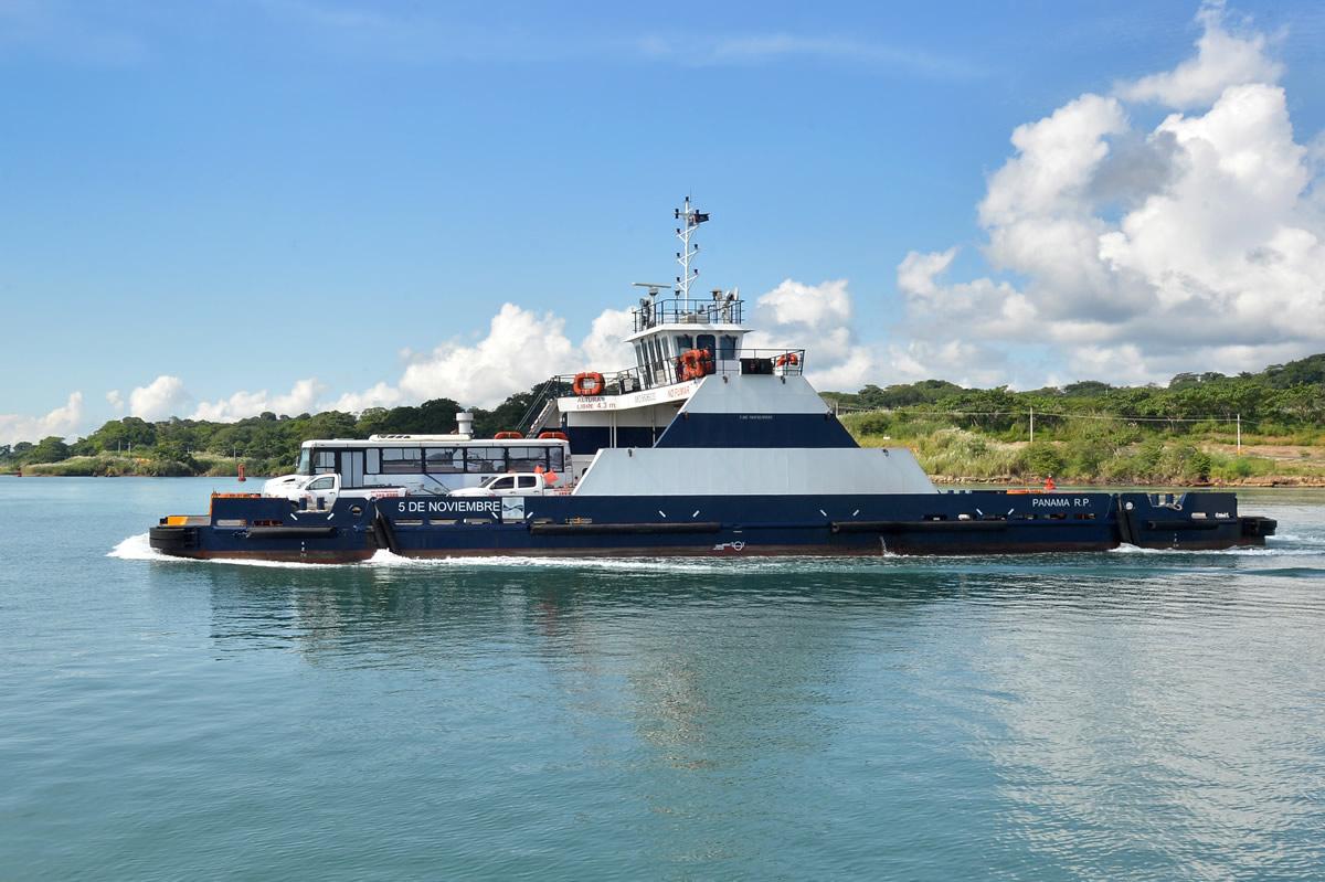 Concluye el mantenimiento del Ferry 5 de Noviembre en el Canal de Panamá