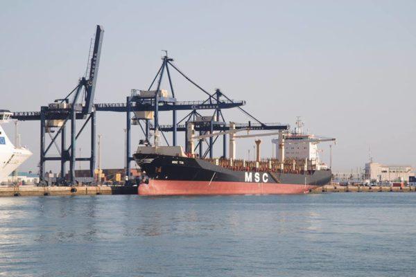 Trafico puerto de Cadiz