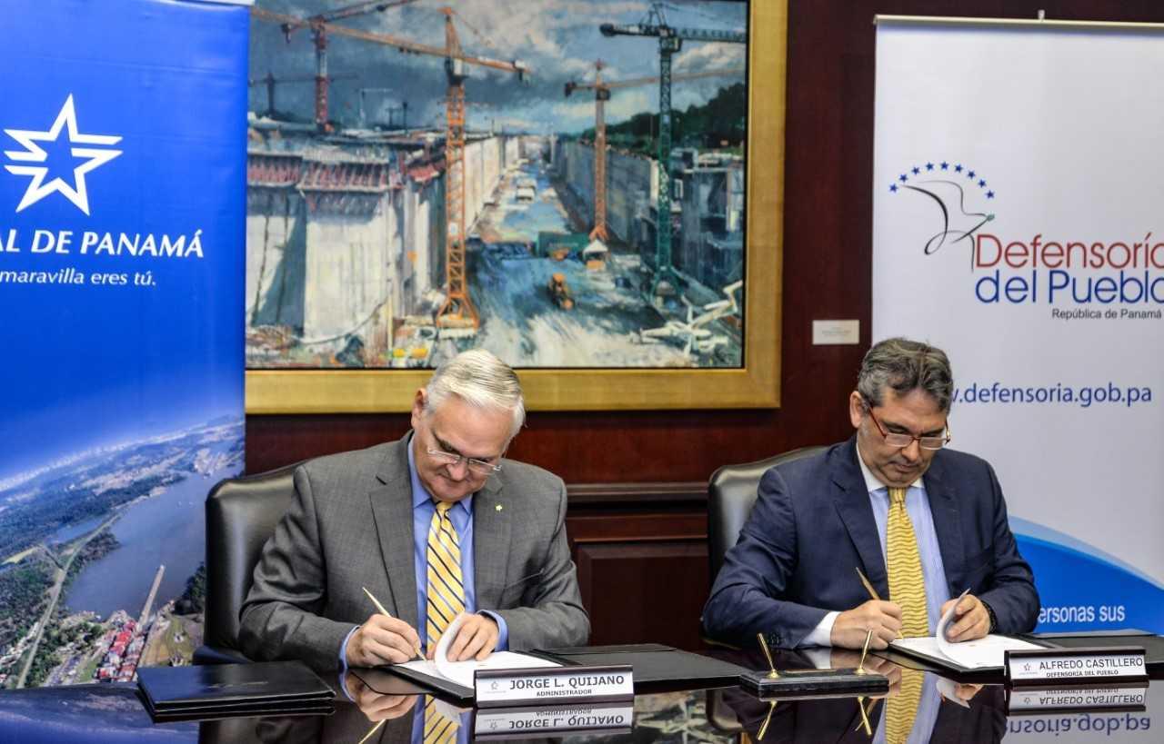 El Canal de Panamá y Defensoría del Pueblo subscriben acuerdo de cooperación interinstitucional