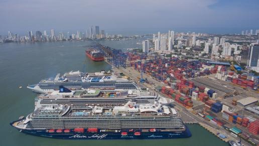 Reportan que más de 70 navieras del mundo llegan a los Puertos Colombianos