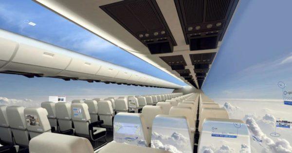Avión sin ventanas