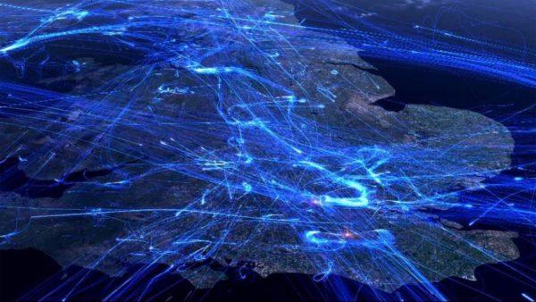 tráfico aéreo
