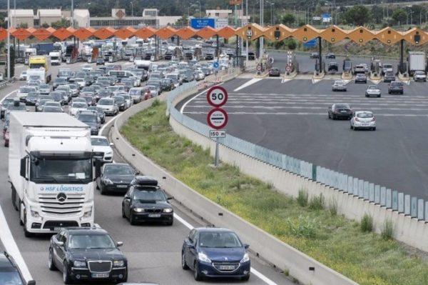 tráfico de camiones en las autopistas