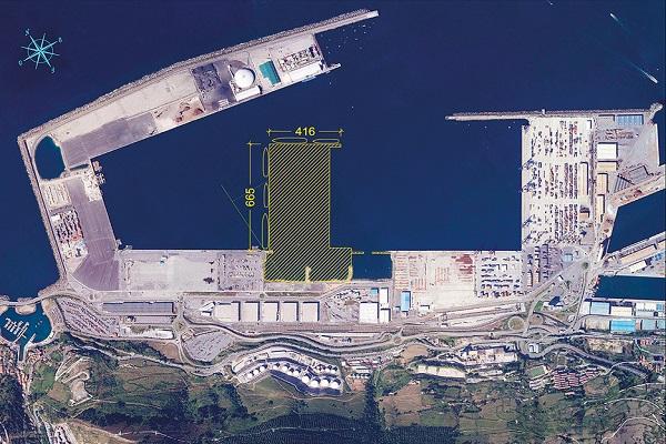 Puerto de Bilbao progresa con las obras del espigón central