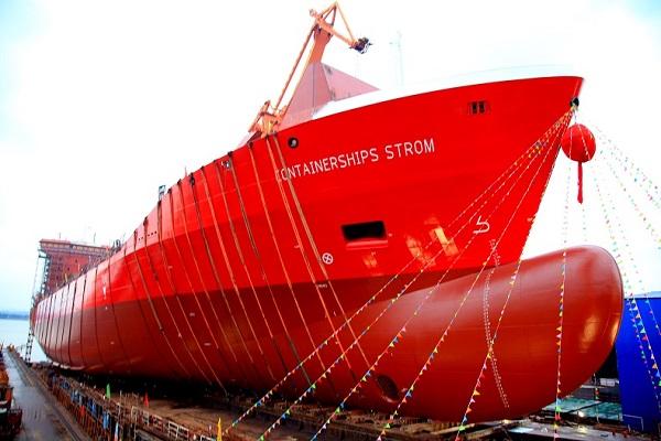 Containerships recibe su primer portacontenedor de GNL