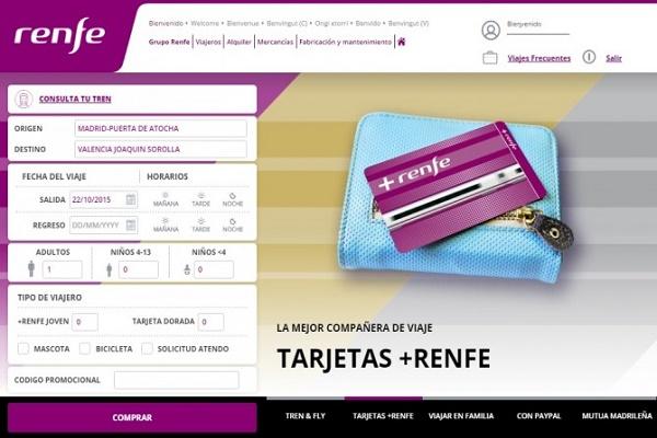 Renfe página web
