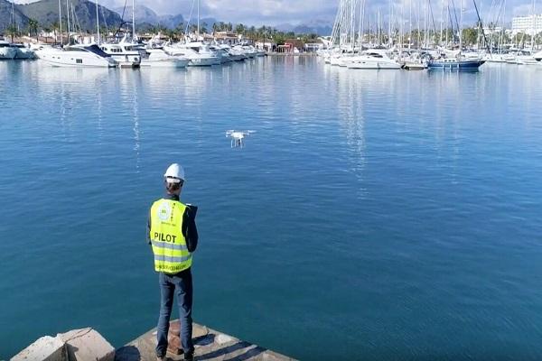 Autoridad Portuaria de Baleares utiliza drones para controlar el recinto portuario