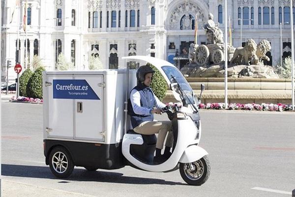 Carrefour desarrolla triciclo eléctrico para el reparto urbano