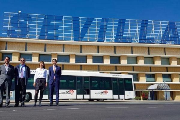 Sevilla aeropuerto autobús aeroportuario eléctrico