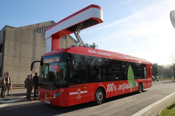 primera línea autobuses eléctricos Irún
