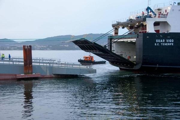 Puerto de Vigo licita obras estructurales de la rampa ro-ro de Bouzas