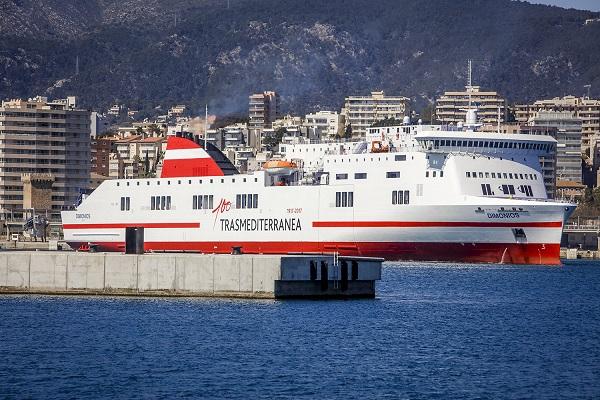 Trasmediterránea añade el buque Ciudad de Palma a la línea Cádiz-Canarias