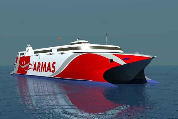 Trasmediterránea utilizará nuevo catamarán para la conexión Gandía-Ibiza-Palma