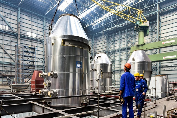 Yara instala un scrubber híbrido en un motor marino de 80 MW
